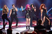 Recording artists Pia Toscano Kimberley Locke Allison Iraheta Jordin Sparks and Tamyra Gray perform onstage during FOX's 'American Idol' Finale For...