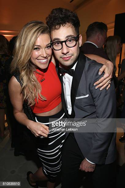 Recording artists Rachel Platten and Jack Antonoff attend Sony Music Entertainment 2016 PostGrammy Reception at Hotel Bel Air on February 15 2016 in...