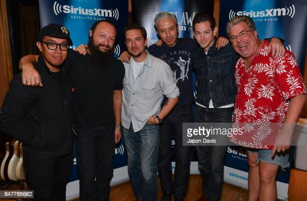 Recording Artists Ray Jacildo Jason Smay JD McPherson Jimmy Sutton Doug Corcoran and SiriusXM Outlaw Country Host Mojo Nixon arrive at Addiction...