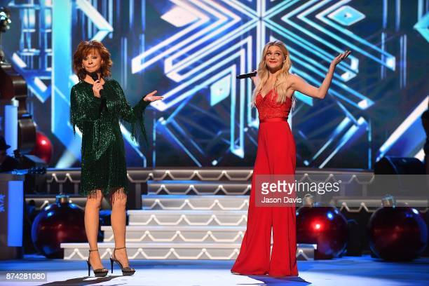 Recording Artists Reba McEntire and Kelsea Ballerini perform on stage during 2017 CMA Country Christmas at The Grand Ole Opry on November 14 2017 in...