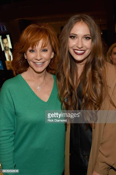Recording artists Reba McEntire and Lauren Daigle attend the 52nd Annual ACM Awards celebration with Big Machine Label Group at Sake Rok on April 2...