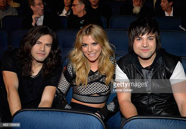 Recording artists Reid Perry Kimberly Perry and Neil Perry of music group The Band Perry attend Stevie Wonder Songs In The Key Of Life An AllStar...