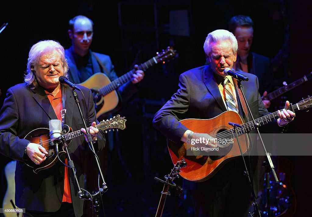 Recording Artists <a gi-track='captionPersonalityLinkClicked' href=/galleries/search?phrase=Ricky+Skaggs&family=editorial&specificpeople=2134089 ng-click='$event.stopPropagation()'>Ricky Skaggs</a> and <a gi-track='captionPersonalityLinkClicked' href=/galleries/search?phrase=Del+McCoury&family=editorial&specificpeople=828031 ng-click='$event.stopPropagation()'>Del McCoury</a> along with Ricky's band Kentucky Thunder perform during <a gi-track='captionPersonalityLinkClicked' href=/galleries/search?phrase=Ricky+Skaggs&family=editorial&specificpeople=2134089 ng-click='$event.stopPropagation()'>Ricky Skaggs</a> Day 2 - Bluegrass Rules at the CMA Theater on November 19, 2013 in Nashville, Tennessee. Skaggs was recently announced as the Country Music Hall of Fame and Museum's 2013 Artist-in-Residence.