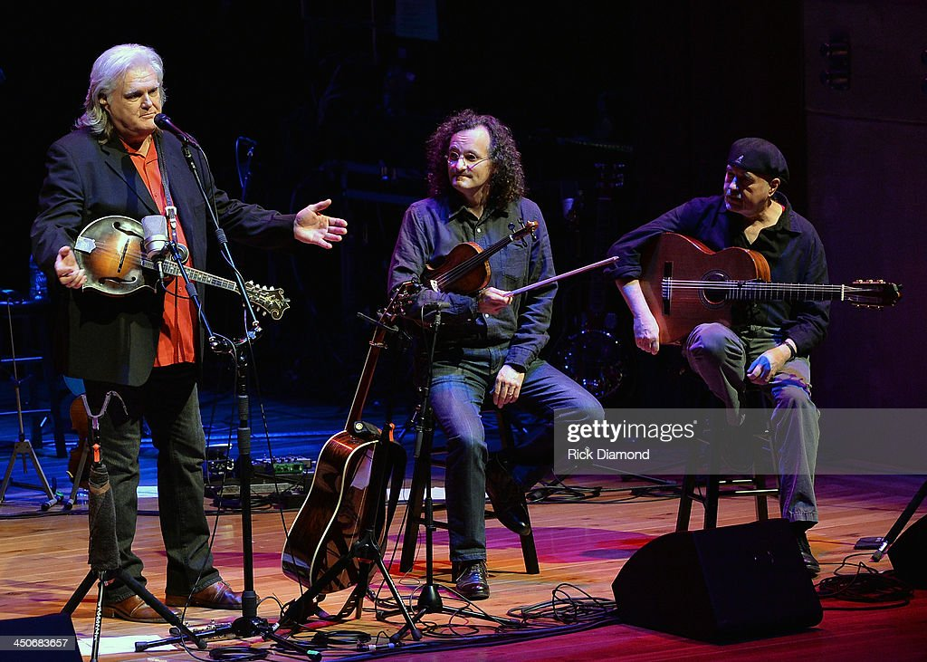 Recording Artists <a gi-track='captionPersonalityLinkClicked' href=/galleries/search?phrase=Ricky+Skaggs&family=editorial&specificpeople=2134089 ng-click='$event.stopPropagation()'>Ricky Skaggs</a>, Martin Hayes and Dennis Cahill along with Ricky's band Kentucky Thunder perform during <a gi-track='captionPersonalityLinkClicked' href=/galleries/search?phrase=Ricky+Skaggs&family=editorial&specificpeople=2134089 ng-click='$event.stopPropagation()'>Ricky Skaggs</a> Day 2 - Bluegrass Rules at the CMA Theater on November 19, 2013 in Nashville, Tennessee. Skaggs was recently announced as the Country Music Hall of Fame and Museum's 2013 Artist-in-Residence.