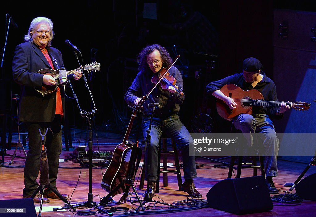 Recording Artists Ricky Skaggs, Martin Hayes and Dennis Cahill along with Ricky's band Kentucky Thunder perform during Ricky Skaggs Day 2 - Bluegrass Rules at the CMA Theater on November 19, 2013 in Nashville, Tennessee. Skaggs was recently announced as the Country Music Hall of Fame and Museum's 2013 Artist-in-Residence.