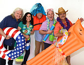Recording Artists Ricky Skaggs Sharon White Jamie Dailey Darrin Vincent with Jimmy Fortune attend 2016 Dailey Vincent WaterFest Cruise Photo Shoot at...