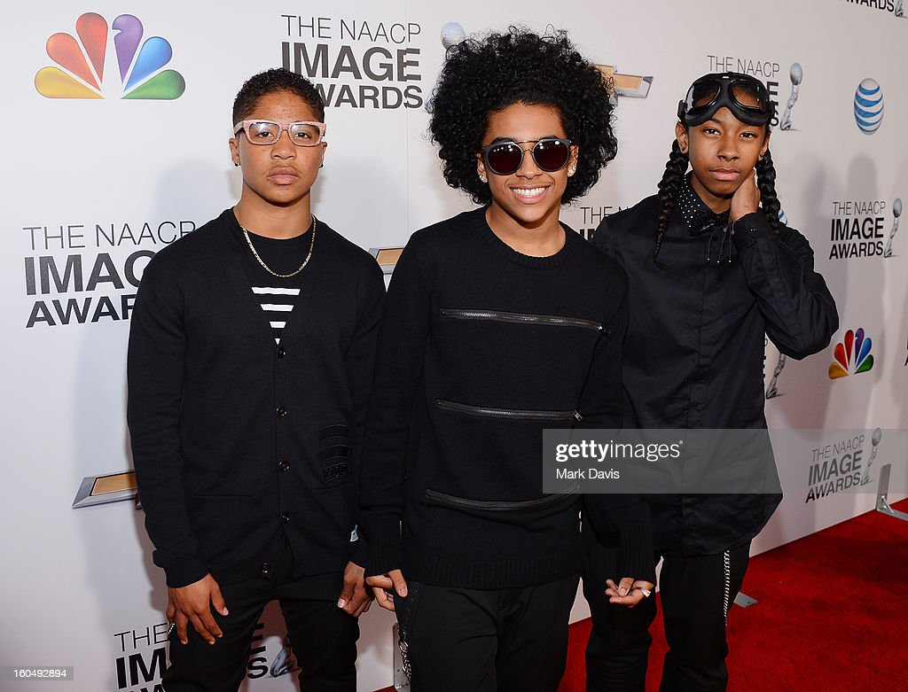 Recording Artists Roc Royal, Princeton and Ray Ray of Mindless Behavior attend the 44th NAACP Image Awards at The Shrine Auditorium on February 1, 2013 in Los Angeles, California.
