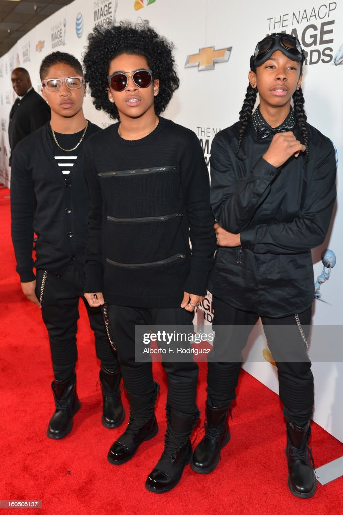 Recording Artists Roc Royal Princeton and Ray Ray of Mindless Behavior attend the 44th NAACP Image Awards at The Shrine Auditorium on February 1 2013...