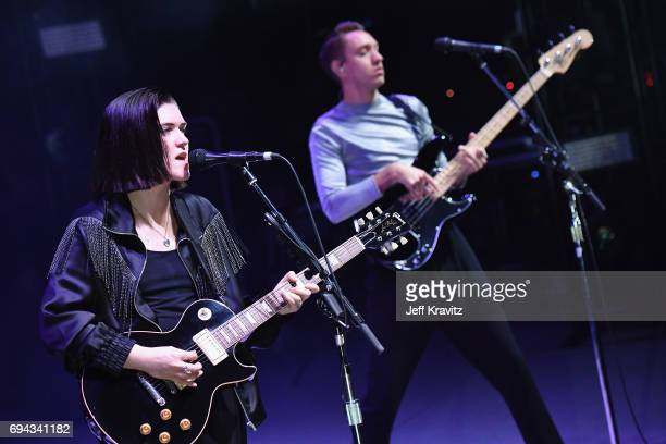 Recording artists Romy Madley Croft and Oliver Sim of The xx perform onstage at What Stage during Day 2 of the 2017 Bonnaroo Arts And Music Festival...