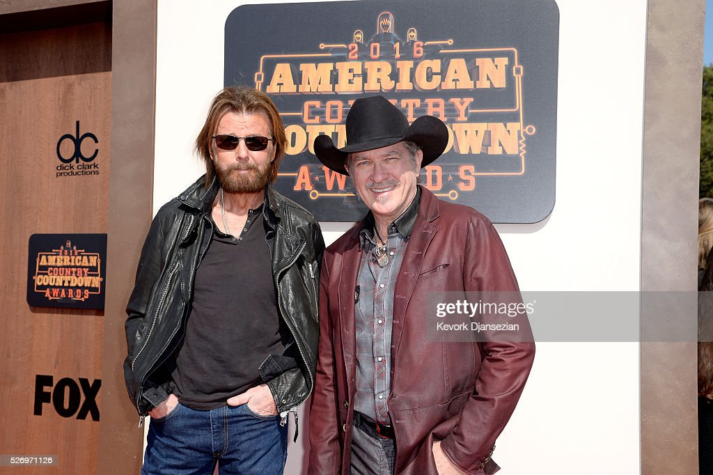 Recording artists Ronnie Dunn (L) and Kix Brooks attend the 2016 American Country Countdown Awards at The Forum on May 1, 2016 in Inglewood, California.