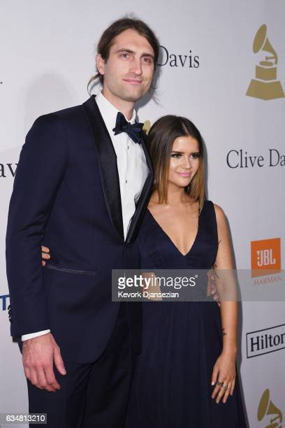 Recording artists Ryan Hurd and Maren Morris attend PreGRAMMY Gala and Salute to Industry Icons Honoring Debra Lee at The Beverly Hilton on February...