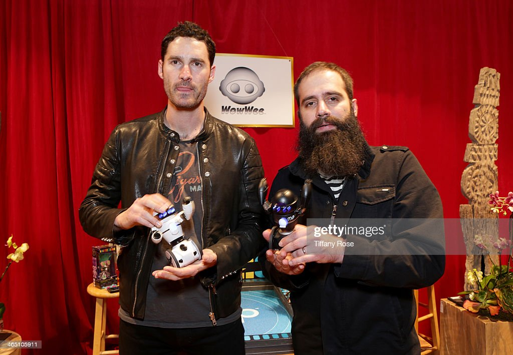 Recording artists Ryan Merchant and Sebu Simonian of Capital Cities attend the GRAMMY Gift Lounge during the 56th Grammy Awards at Staples Center on...