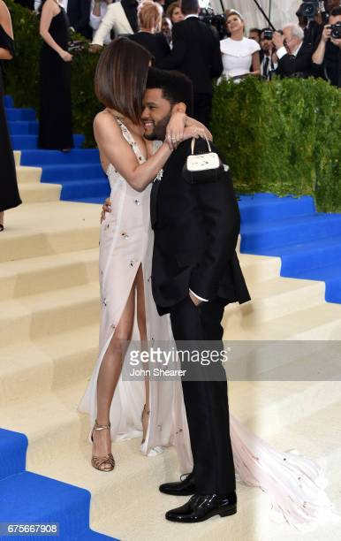 Recording artists Selena Gomez and The Weeknd attend 'Rei Kawakubo/Comme des Garcons Art Of The InBetween' Costume Institute Gala at Metropolitan...
