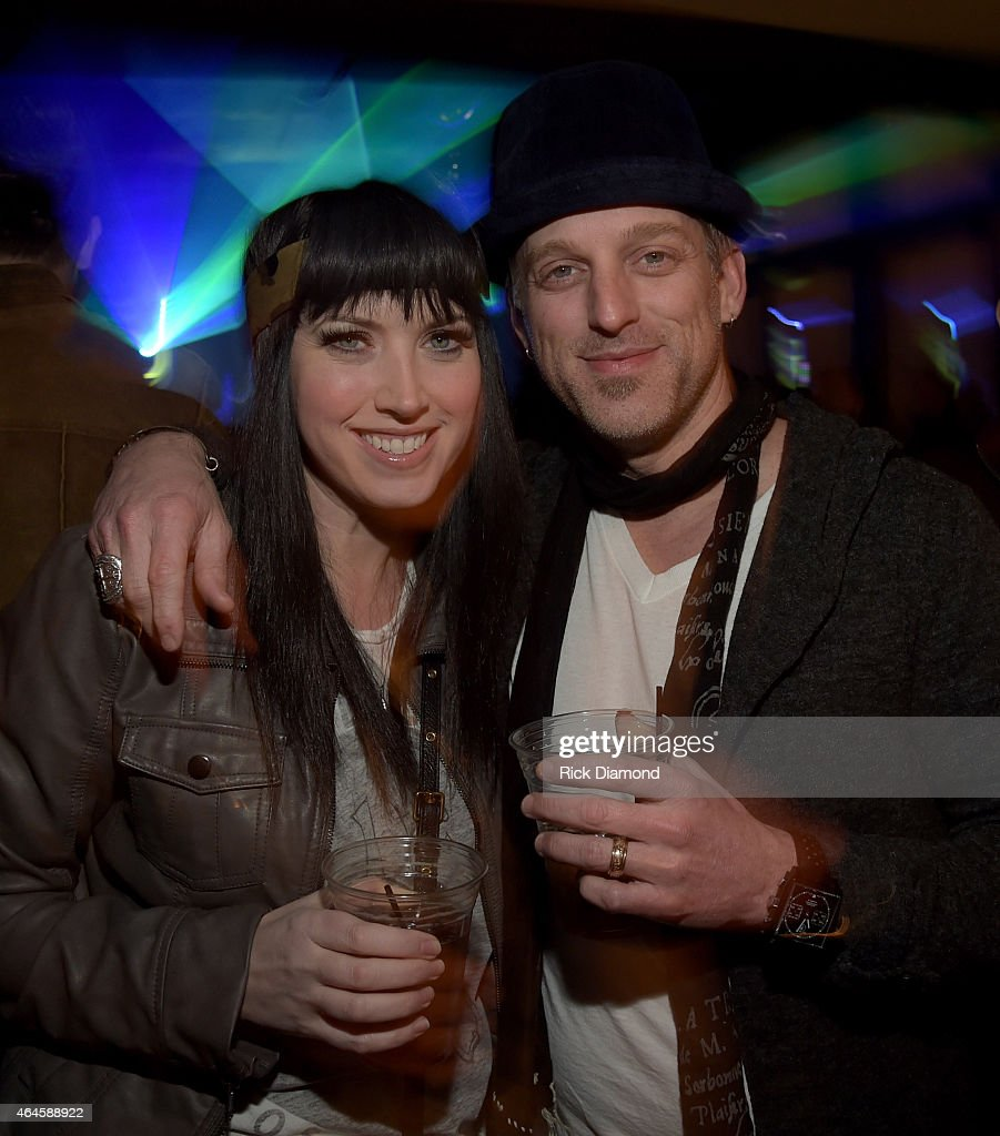 Recording Artists Shawna Thompson and Keifer Thompson attend Big Rich CRS House Party at Mount Richmore on February 26 2015 in Nashville Tennessee