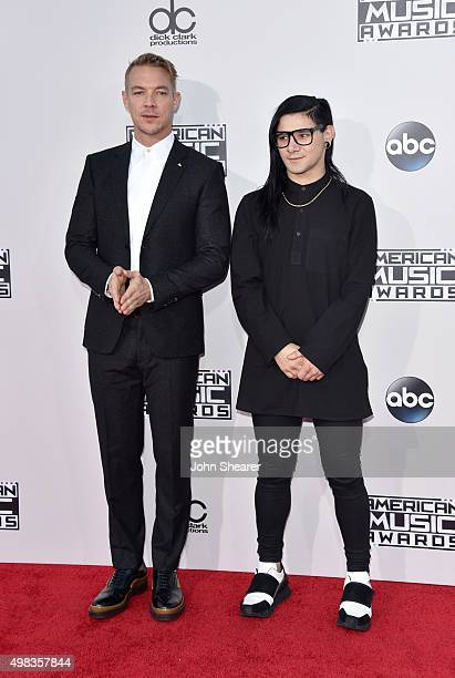 Recording artists Skrillex and Diplo attend the 2015 American Music Awards at Microsoft Theater on November 22 2015 in Los Angeles California