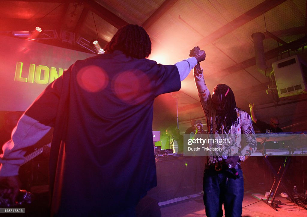 Recording artists Snoop Dogg aka Snoop Lion and Mavado perform onstage at Lion Fest during the 2013 SXSW Music, Film + Interactive Festival at Viceland on March 14, 2013 in Austin, Texas.
