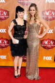Recording artists Susie Brown and Danelle Leverett of The JaneDear Girls arrive at the American Country Awards 2011 at the MGM Grand Garden Arena on...
