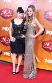 Recording artists Susie Brown and Danelle Leverett of The JaneDear Girls arrives at 2011 American Country Awards at MGM Grand Garden Arena on...