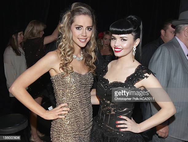 Recording artists Susie Brown and Danelle Leverett of The JaneDear Girl attends the American Country Awards 2011 at the MGM Grand Garden Arena on...