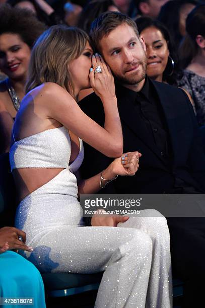 Recording artists Taylor Swift and Calvin Harris attend the 2015 Billboard Music Awards at MGM Grand Garden Arena on May 17 2015 in Las Vegas Nevada