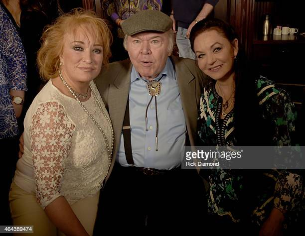 Recording Artists Tayna Tucker Roy Clark and Crystal Gayle attend Webster Public Relations Unofficial KickOff CRS Event Legendary Lunch at The Palm...