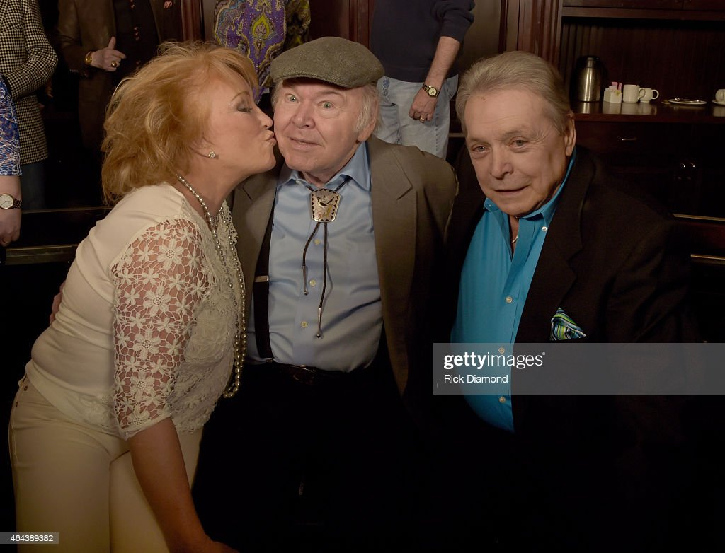 Recording Artists, Tayna Tucker, Roy Clark and Mickey Gilley attend Webster Public Relations - Unofficial Kick-Off CRS Event - Legendary Lunch at The Palm Restaurant on February 25, 2015 in Nashville, Tennessee.