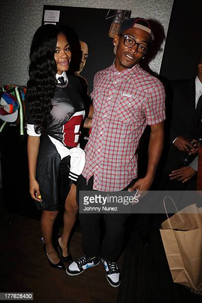 Recording artists Teyana Taylor and William Dollars attend the Pre VMA Black Tie Affair Swizz Beatz x Teyana Taylor x Monster Headphones at Aloft on...