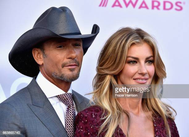 Recording artists Tim McGraw and Faith Hill attend the 52nd Academy Of Country Music Awards at Toshiba Plaza on April 2 2017 in Las Vegas Nevada
