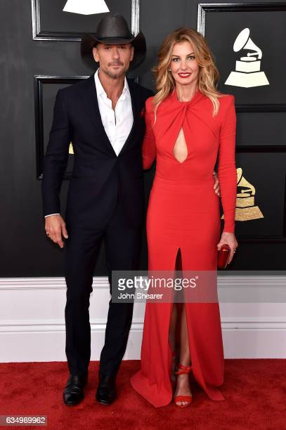 Recording artists Tim McGraw and Faith Hill attend The 59th GRAMMY Awards at STAPLES Center on February 12 2017 in Los Angeles California