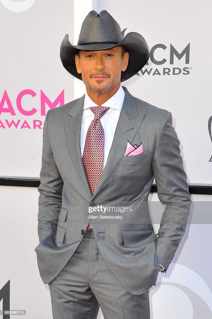 Recording artists Tim McGraw arrives at the 52nd Academy Of Country Music Awards on April 2, 2017 in Las Vegas, Nevada.