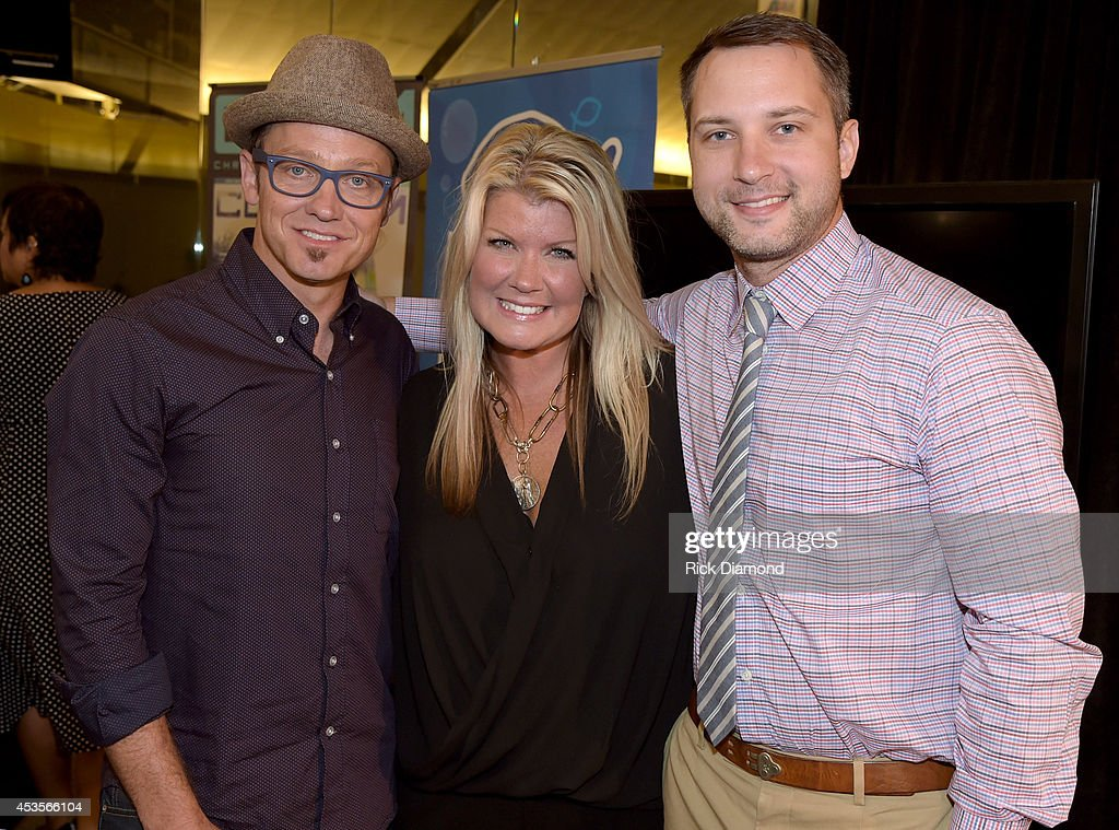 Recording Artists TobyMac, Natalie Grant and Brandon Heath during the 45th Annual GMA Dove Awards Nominations Press Conference at Allen Arena on Lipscomb University campus, August 13, 2014 in Nashville, Tennessee.