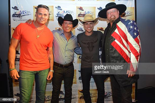 Recording Artists Troy Gentry Clay Walker Dustin Lynch and Eddie Montgomery attend Clay Walker's 5th annual Chords of Hope event at 3rd Lindsley on...