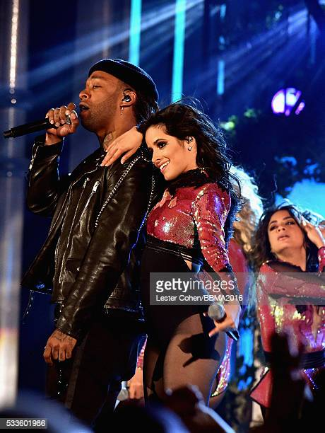 Recording artists Ty Dolla Sign with Camila Cabello of Fifth Harmony perform onstage during the 2016 Billboard Music Awards at TMobile Arena on May...