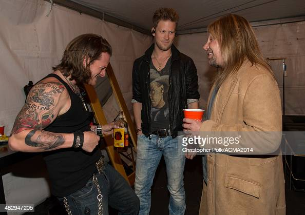 Recording artists Tyler Hubbard and Brian Kelley of music group Florida Georgia Line perform onstage during day one of the ACM Party for A Cause...