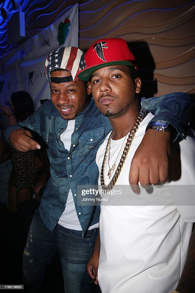 Recording artists Vado and <a gi-track='captionPersonalityLinkClicked' href=/galleries/search?phrase=Juelz+Santana&family=editorial&specificpeople=608338 ng-click='$event.stopPropagation()'>Juelz Santana</a> attend NY Knicks player JR Smith, Slow Of Slowbucks & Big Ben's Birthday Celebration at Stage 48 on August 28, 2013 in New York City.
