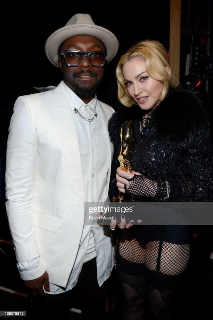 Recording artists Will.i.am and <a gi-track='captionPersonalityLinkClicked' href=/galleries/search?phrase=Madonna+-+Singer&family=editorial&specificpeople=156408 ng-click='$event.stopPropagation()'>Madonna</a> attend the 2013 Billboard Music Awards at the MGM Grand Garden Arena on May 19, 2013 in Las Vegas, Nevada.