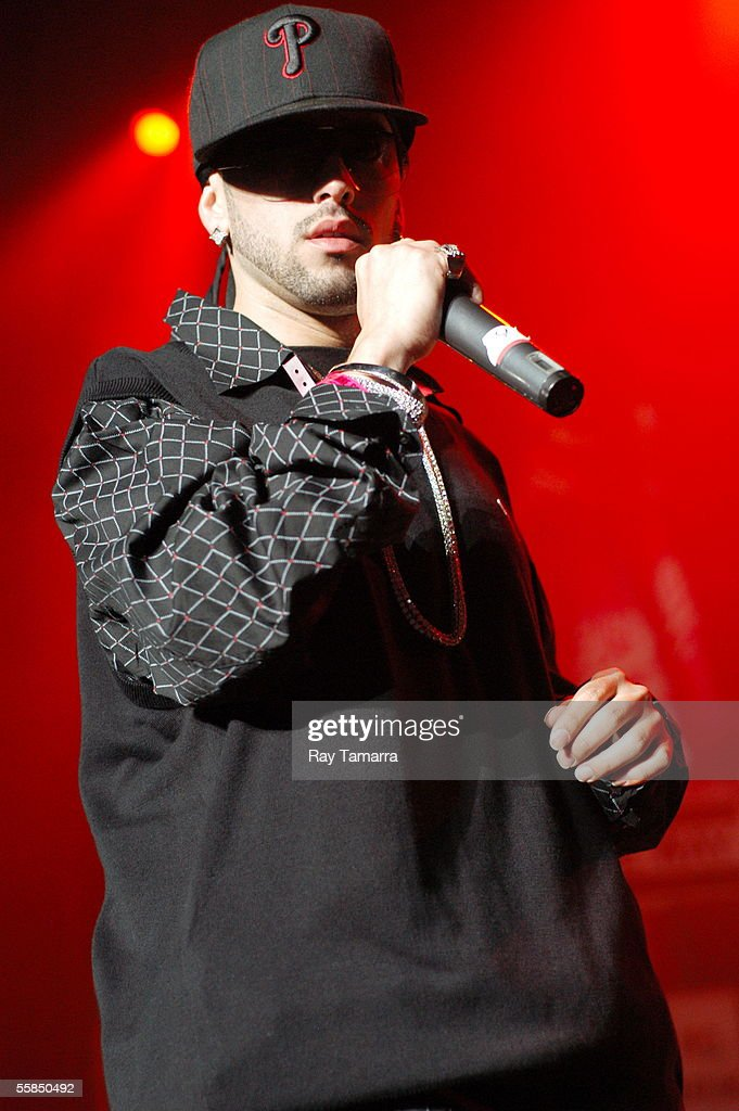 Recording artists Wisin y Yandel perform at the McDonald's La Kalle 1059 Block Party Concert at Madison Square Garden September 28 2005 in New York...