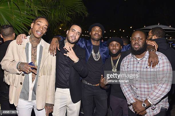 Recording artists Wiz Khalifa French Montana and guests attend the GQ 20th Anniversary Men of the Year Party at Chateau Marmont on December 3 2015 in...