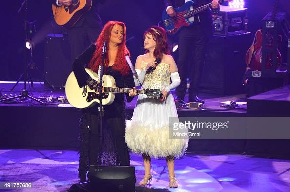 Recording artists Wynonna Judd and Naomi Judd perform during the launch of their nineshow residency 'Girls Night Out' at The Venetian Las Vegas on...
