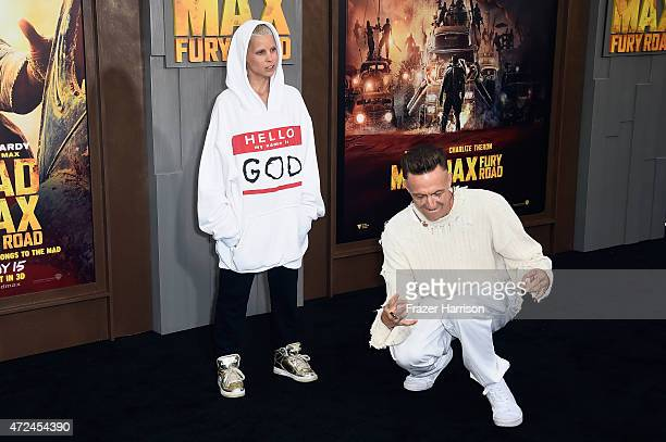 Recording artists Yolandi Visser and Ninja of Die Antwoord attend the premiere of Warner Bros Pictures' 'Mad Max Fury Road' at TCL Chinese Theatre on...
