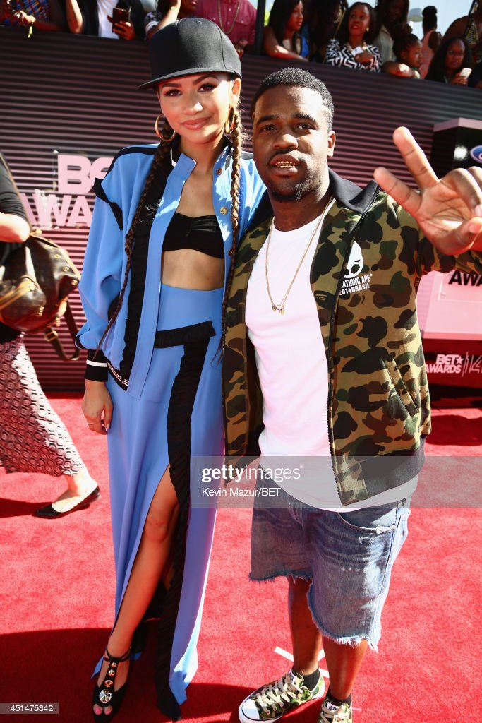 Recording artists Zendaya and ASAP Ferg attend the BET AWARDS '14 at Nokia Theatre LA LIVE on June 29 2014 in Los Angeles California