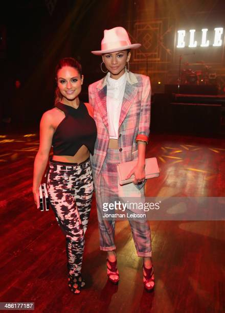 Recording artists Zendaya and Pia Toscano attend the 5th Annual ELLE Women in Music Celebration presented by CUSP by Neiman Marcus Hosted by ELLE...