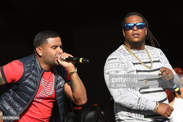 Recording Artists Zion and Lennox perform onstage during 'L Festival Feria Cultural Latinoamericana' at OC Fair and Event Center on October 25 2015...