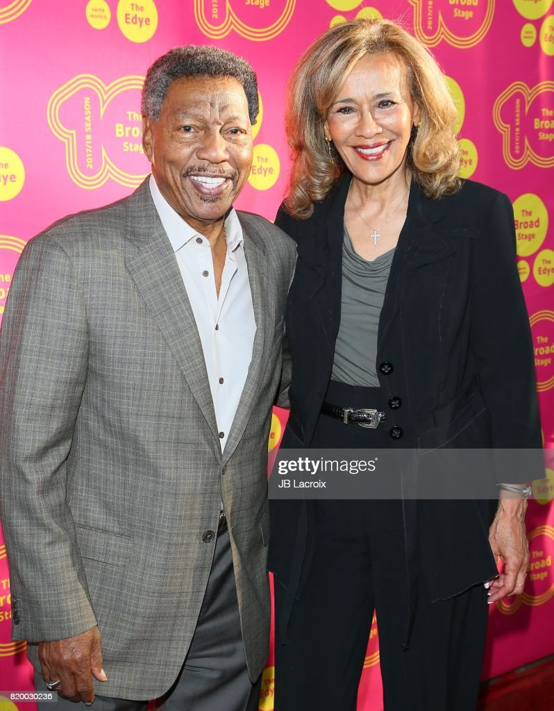 Recording artists/husband & wife Billy Davis Jr. (L) and Marilyn McCoo attend the opening night of 'Born For This' at The Broad Stage on July 20, 2017 in Santa Monica, California.