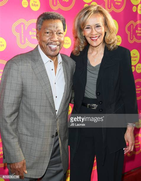 Recording artists/husband wife Billy Davis Jr and Marilyn McCoo attend the opening night of 'Born For This' at The Broad Stage on July 20 2017 in...