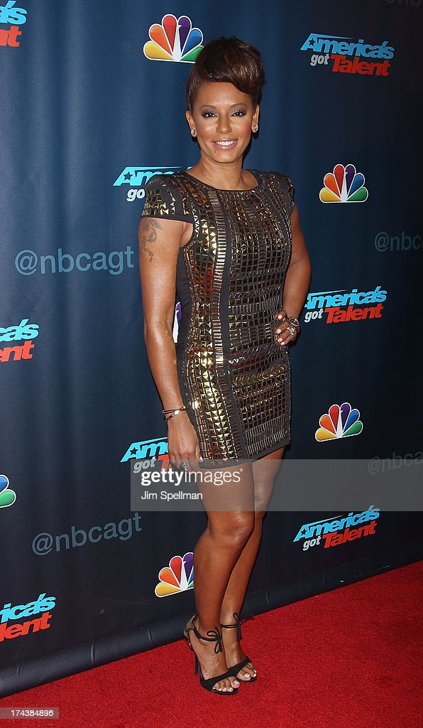 Recording Artist/TV personality Mel B attends 'Americas Got Talent' Season 8 Post-Show Red Carpet Event at Radio City Music Hall on July 24, 2013 in New York City.