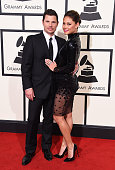 Recording artist/TV personality Nick Lachey and TV personality Vanessa Lachey attend The 58th GRAMMY Awards at Staples Center on February 15 2016 in...