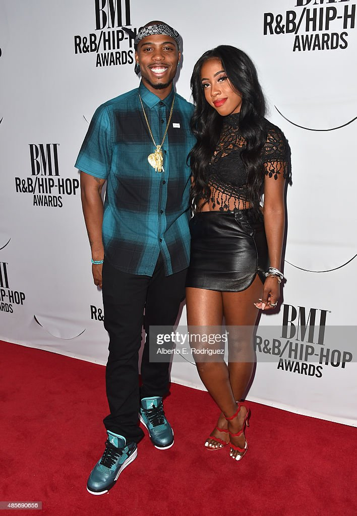 Recording artits BoB and Sevyn Streeter attend the 2015 BMI RB/Hip Hop Awards at Saban Theatre on August 28 2015 in Beverly Hills California
