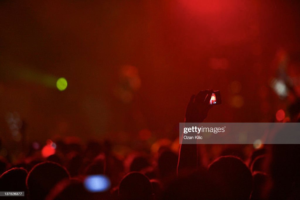 Recording at Concert : Stock Photo