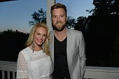 Recording Charles Kelley and wife Cassie McConnell attend the Vh1 Save The Music Musically Mastered Menu at The Cordelle on April 27 2015 in...